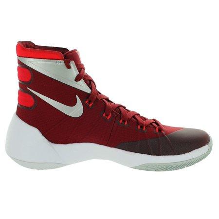 591ad97aa952 Nike Mens Hyperdunk 2015 TB Basketball Shoe (TEAM RED UNIVERSITY  RED WHITE METALLIC SILVER