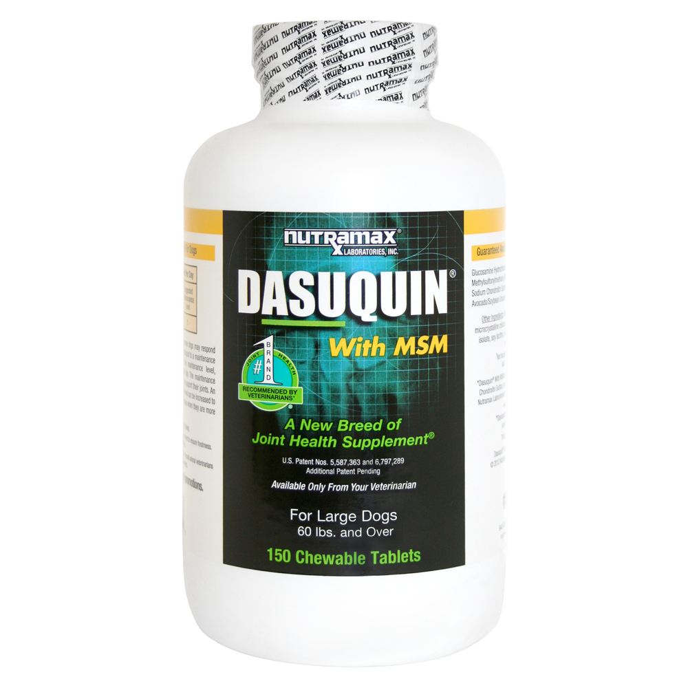 Nutramax Dasuquin with MSM Joint Health Chewable Tablets Large Dog Supplement, 150 Chewable Tablets