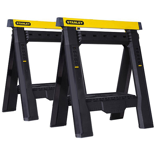 Stanley Adjustable Sawhorse, 2-Pack, STST60626