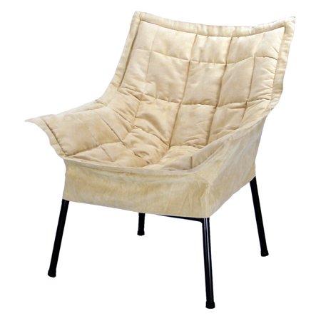 Milano Upholstered Accent Arm ChairBeigeWalmartcom