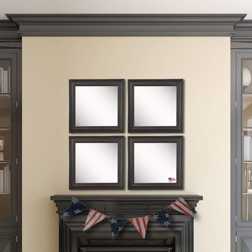 Charlton Home Kimzey Brazilian Walnut Wall Mirror (Set of 4)