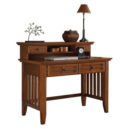 Arts and Crafts Cottage Oak Student Desk and (Arts And Crafts Hutch)