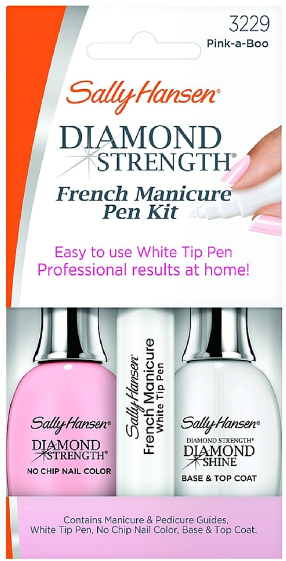 Sally Hansen Treatment Diamond Strength French Manicure Pen Kit Pink ...