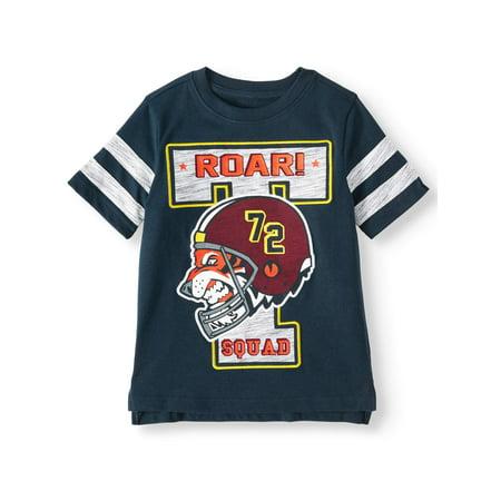 365 Kids from Garanimals Short Sleeve Varsity Tape T-shirt (Little Boys & Big Boys)