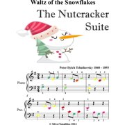 Waltz of the Snowflakes Nutcracker Suite Beginner Piano Sheet Music with Colored Notes - eBook
