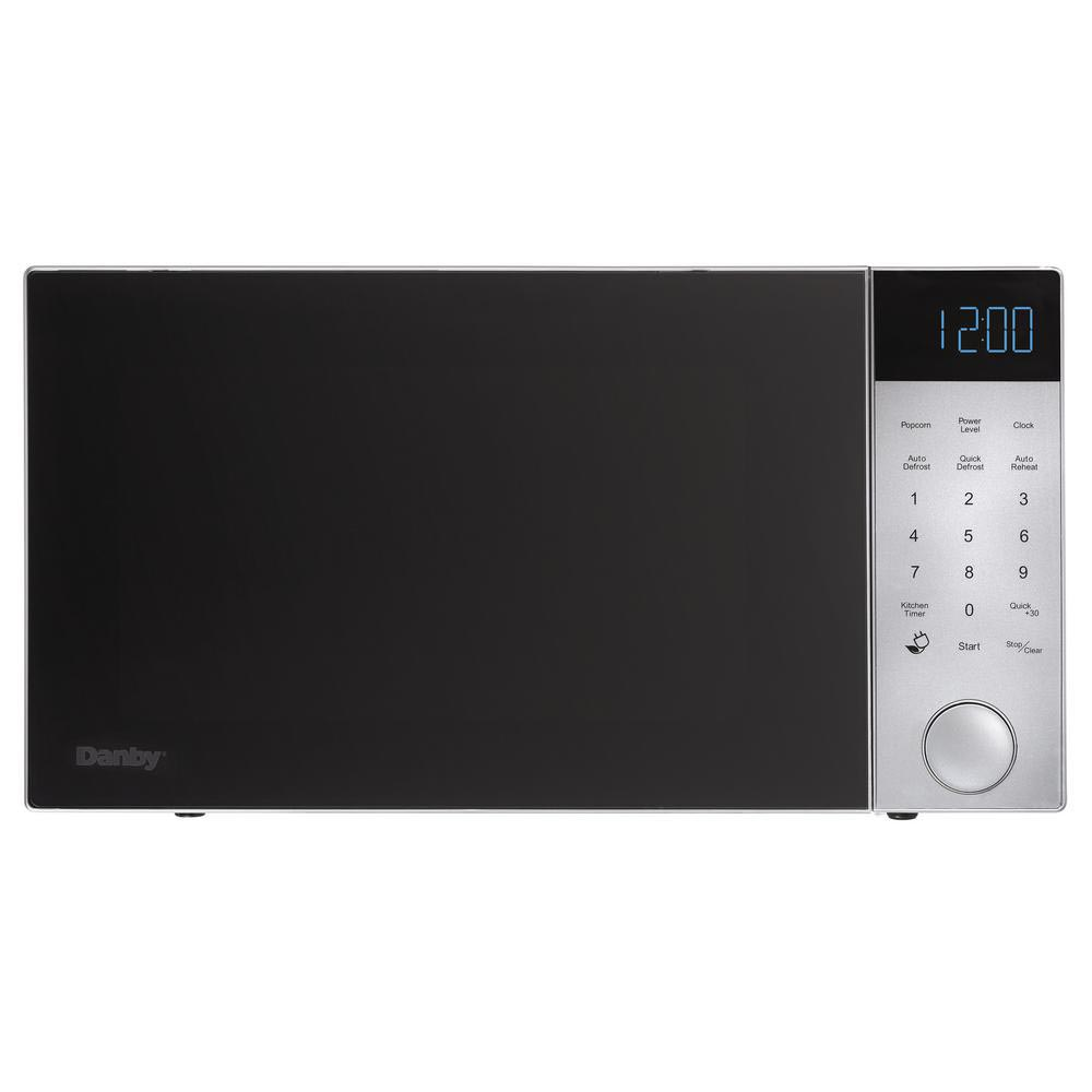 Danby 1.2 cu. ft. Kitchen Countertop Microwave Oven 1200 Watts, Brushed Silver by Danby