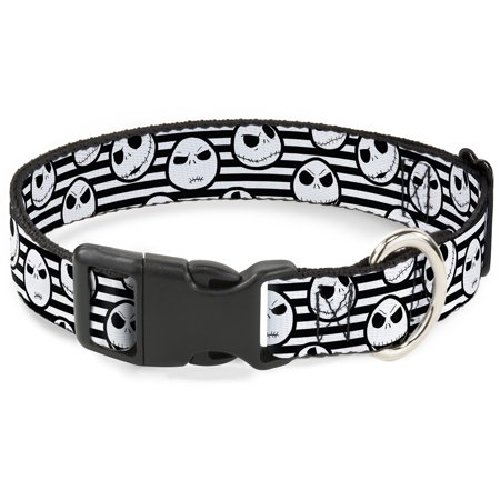 Cat Collar Breakaway Jack Expressions Stripe White Black 8 to 12 Inches 0.5 Inch Wide 0.5' Cat Safety Collar