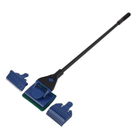 Aquarium Plastic Cleaning Tool Gravel Rake Algae Scraper Flant Fork Brush 3 in 1