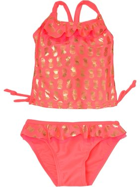 e69f38ea21 Product Image Real Love Little Girls Coral Pineapple Print 2 Pc Tankini  Swimsuit