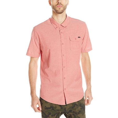 O'Neill Mens Emporium Solid Short Sleeve Shirt (Spice, (Men Emporium)