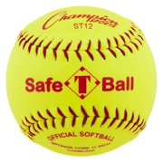 12 in. Safety Softball in Optic Yellow Set of 12 by Champion Sports