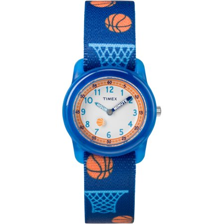 Boys Time Machines Blue Basketball Watch, Elastic Fabric Strap