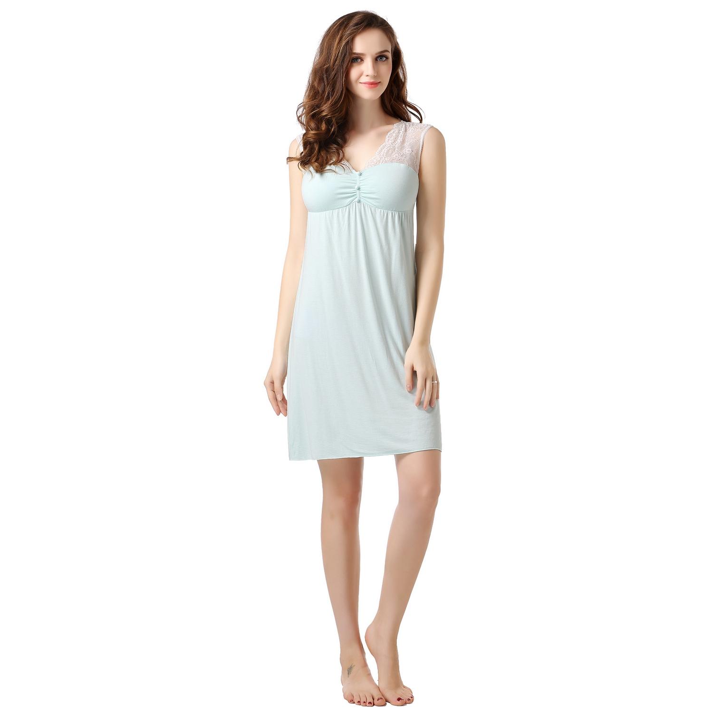 Richie House Women's Summer Knit Dress Pajama Sleepwear R...