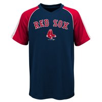 Product Image MLB Boston RED SOX TEE Short Sleeve Boys Fashion Jersey Tee  100% Polyester Pin Dot 19ce4773e
