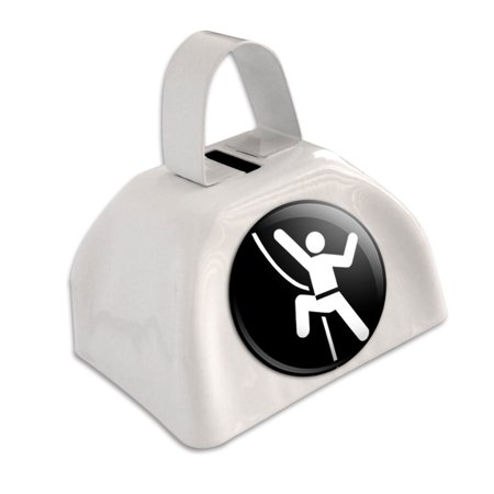 Rock Climbing Repelling Belay White Cowbell Cow Bell](Blue Cow Bells)