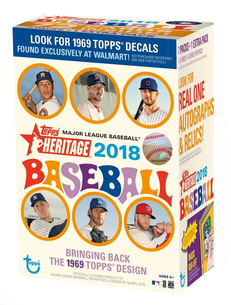2018 Topps MLB Heritage Baseball Value Box Trading Cards by Topps