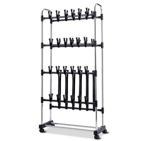 36 Pairs Clip On Shoe&Boot Rack Adjustable Storage Shelf Holder Space - image 3 of 10