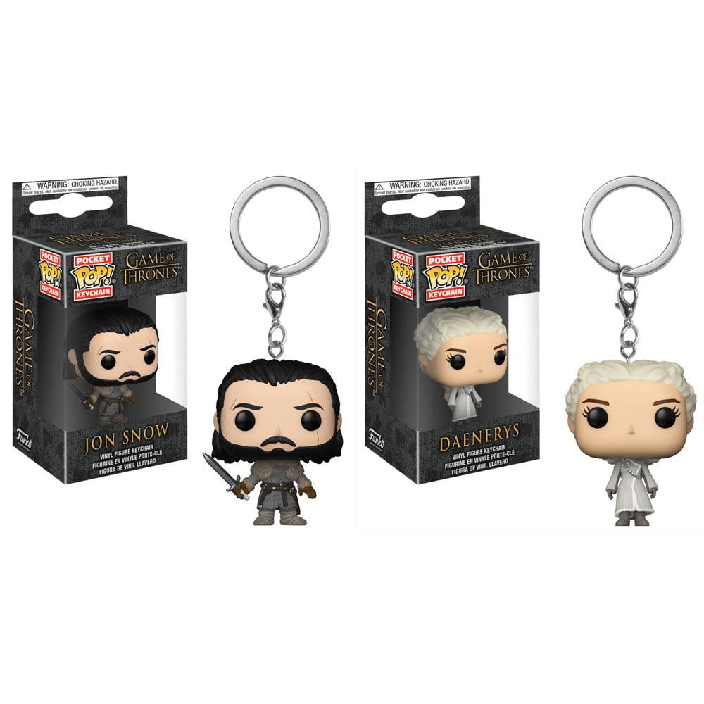 Funko Pocket POP! Keychains - Game of Thrones - SET OF 2 (Jon Snow & Daenerys)