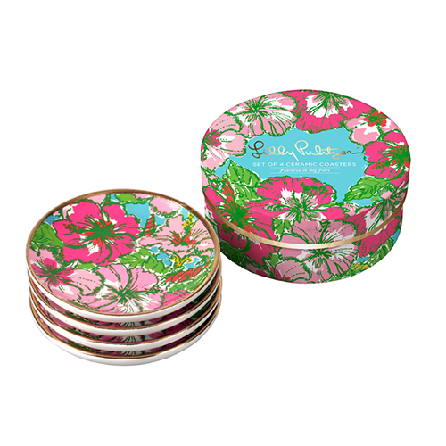 Lilly Pulitzer - Coaster Set - Big Flirt