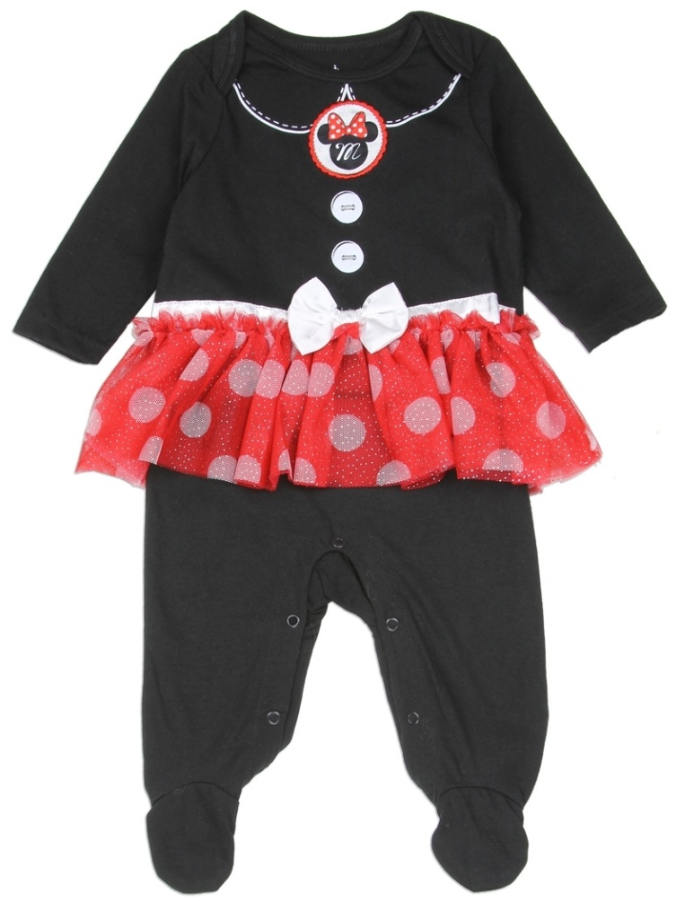 Minnie Mouse Baby Ruffle Skirt Footed Sleeper Pajama