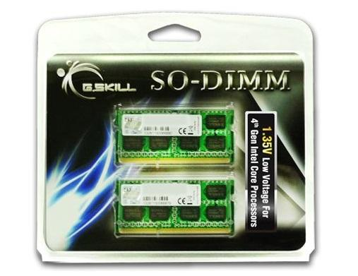 8GB G.Skill DDR3 1333MHz SO-DIMM (DDR3L) Low-voltage 1.35V laptop memory kit (2x 4GB) CL9