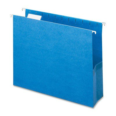 - Smead 64270 Sky Blue Colored Hanging Pockets with Tab SMD64270