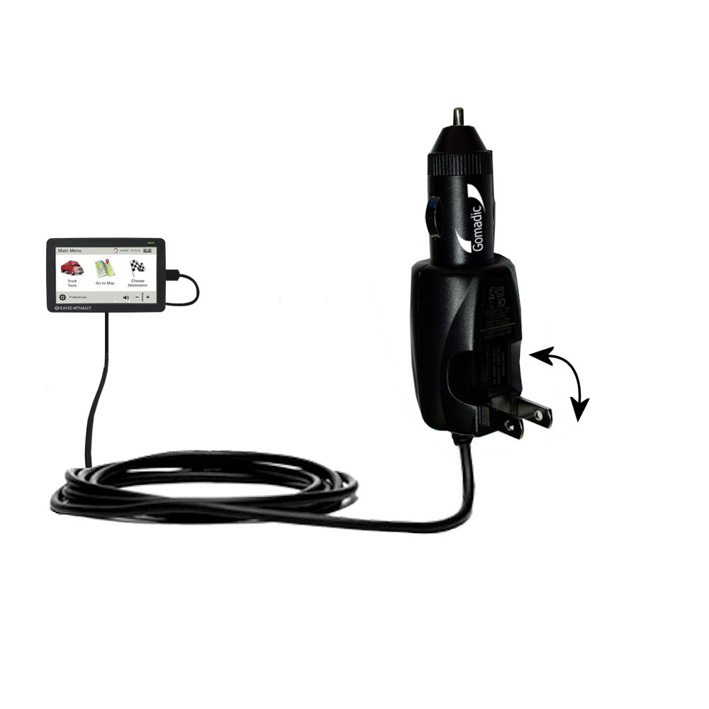 Gomadic Intelligent Dual Purpose Dc Vehicle And Ac Home Wall Charger