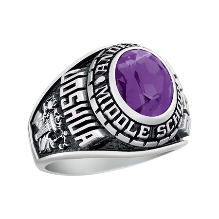 (Keepsake Personalized Men's Middle School or Junior High Ring available in Valadium)