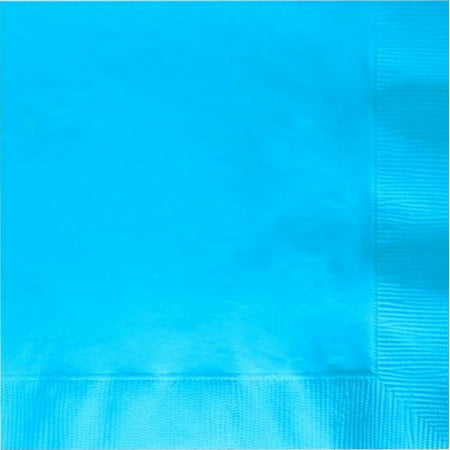 50 Plain Solid Colors Luncheon Dinner Napkins Paper - Bermuda Blue (Dinner Napkins Paper)