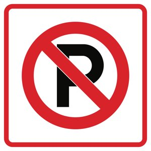 Aluminum No Parking Business Office School Outdoor Square 12x12 Sign
