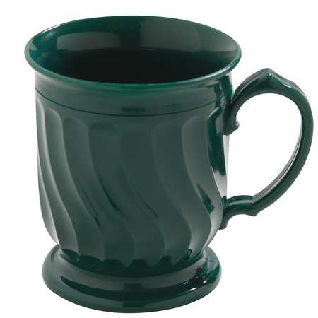 CARLISLE DINEX DX300008 Mug, Insulated, H 4 In, Green, PK 48