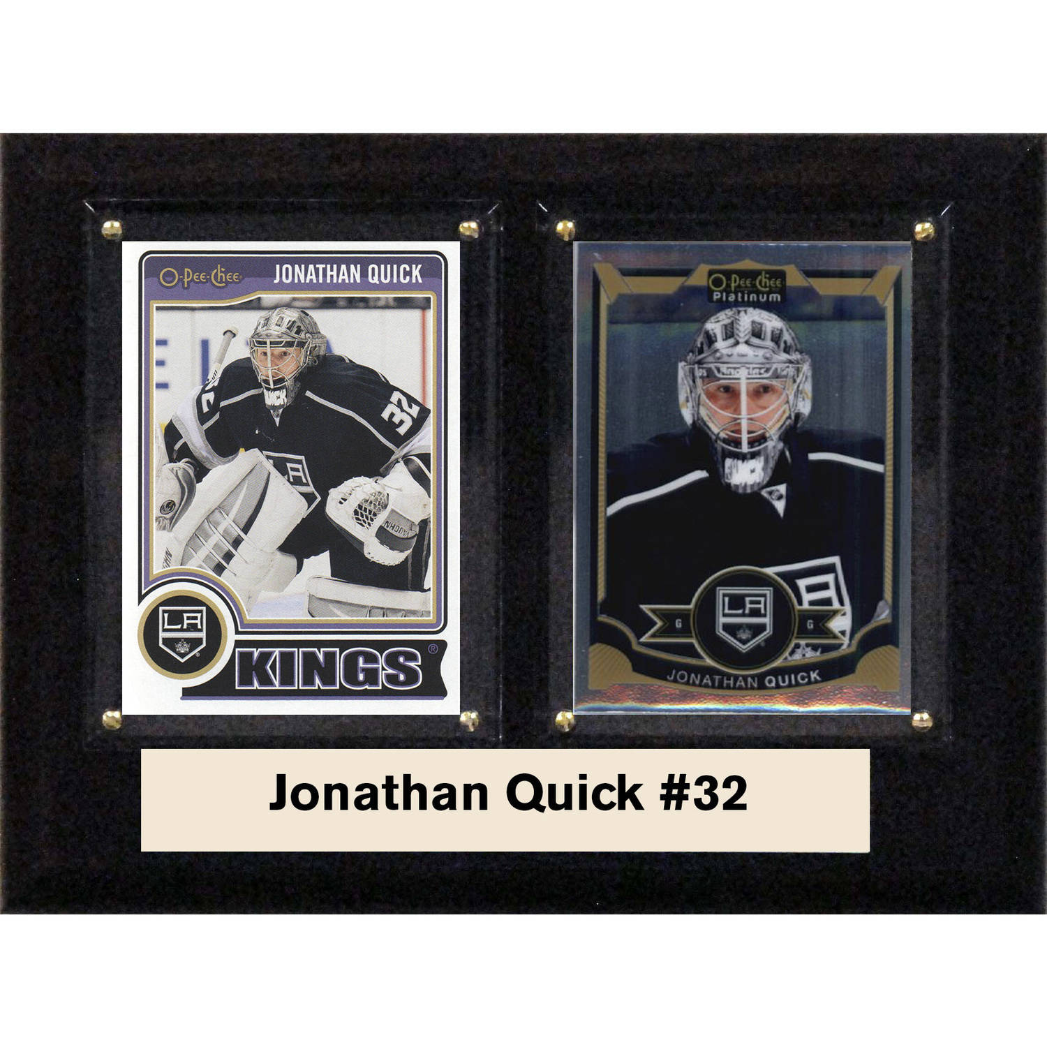 "C & I Collectables NHL 6"" x 8"" Jonathan Quick Los Angeles Kings Two-Card Plaque"