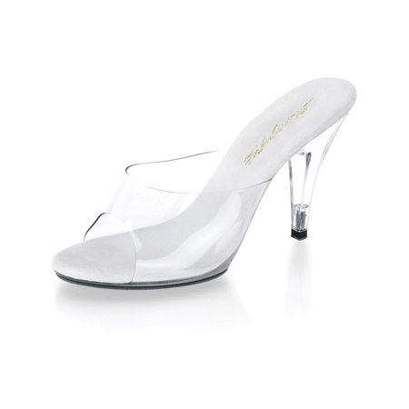 6 Inch Clear High Heel - Simply Elegant Clear High Heel Pageant Shoes with 4 Inch Heels