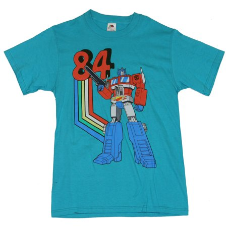 Transformers  Classic 80S Cartoons Style  Mens T Shirt    Classic 1984 Optimus