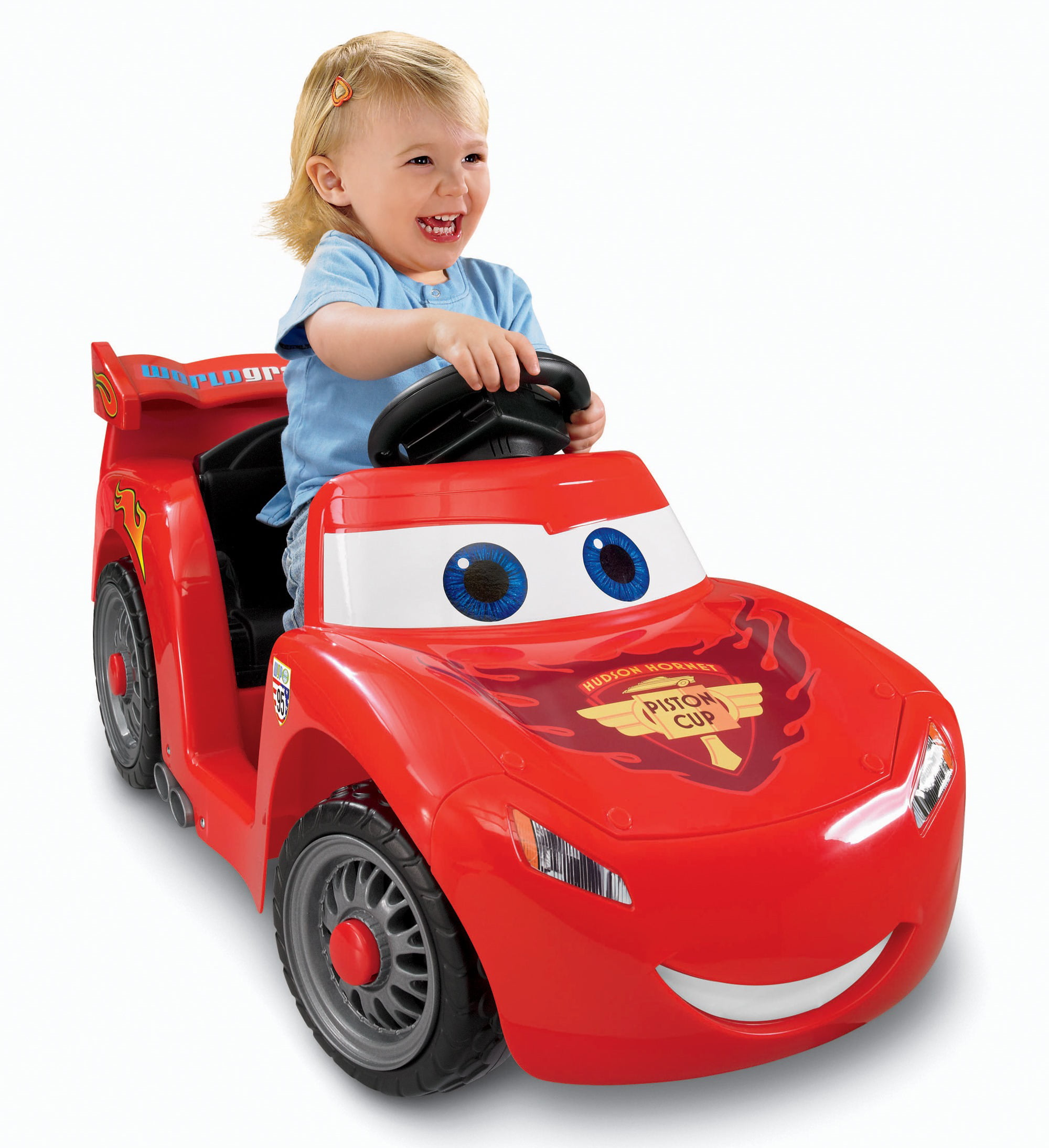Power Wheels Lightning McQueen 6-Volt Battery-Powered Ride-On ...