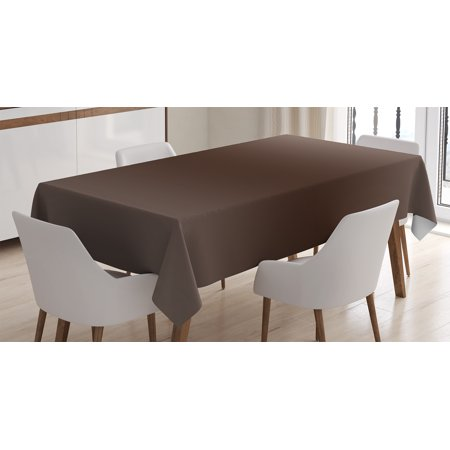 Ombre Tablecloth, Wood Kindling Tree Mud Nature Inspired Themed Dark Brown Colored Modern Art Print, Rectangular Table Cover for Dining Room Kitchen, 60 X 90 Inches, Brown, by