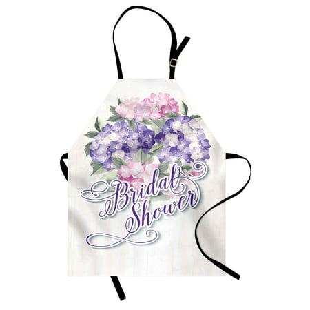 bridal shower apron shabby chic hydrangeas romantic bride flowers image art print unisex kitchen bib