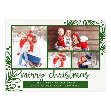 Christmas Cards Cheap (Merry Mistletoe - 5x7 Personalized Christmas)