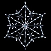 28 in. Outdoor LED Snowflake Patchwork Display - 100 Bulbs
