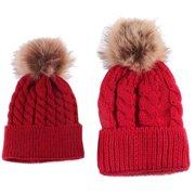 Binmer Mom And Baby Knitting Keep Warm Hat db09bc53b445