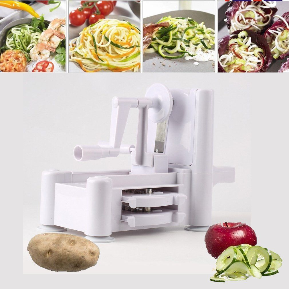 1 Set New and Essential Tri-Blade Vegetable Slicer Spiralizer Cutter Mandoline Chopper cooking tools kitchen... by