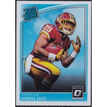 2018 Donruss Optic 157 Derrius Guice Washington Redskins Rookie Football Card