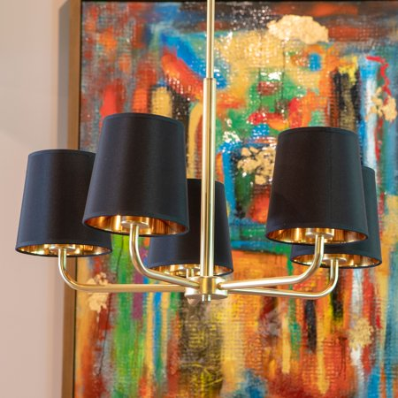 Evelyn 5-Light Brass Plated Metal