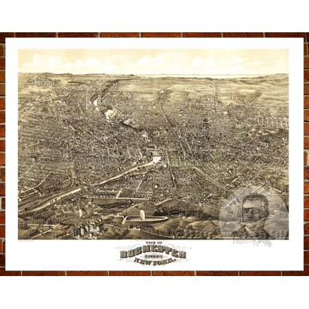 Ted's Vintage Art Map of Rochester, NY 1880; Old New York Decor 18