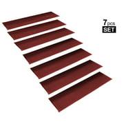 "StepBasic Non-Slip Mat Rubber Backed Slip Resistant Anti Bacterial Stair Treads Gripper Mats Set of 7 - Red ( 8.5"" x 26"" )"