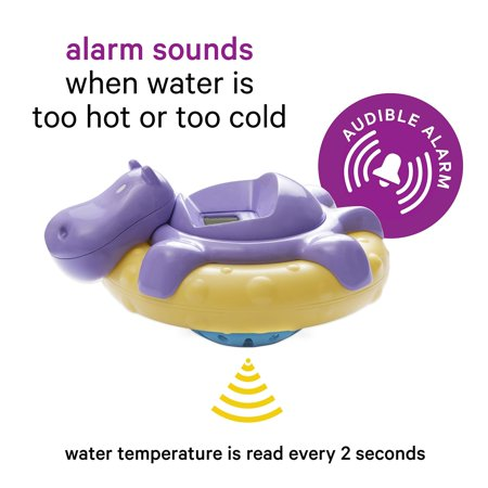 - AQUATOPIA Floating Safety Bath Thermometer for Infants, Digital Audible Alarm, Beeps When Too hot or Too Cold! (Purple) Purple