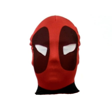 Deadpool Adult Mask See Through Cosplay Costume Spandex Red Mens Halloween Movie - Deadpool Mask Sewing Pattern