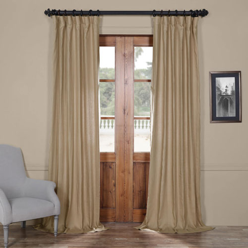 French Beige 84 X 50 In. Linen Curtain Panel