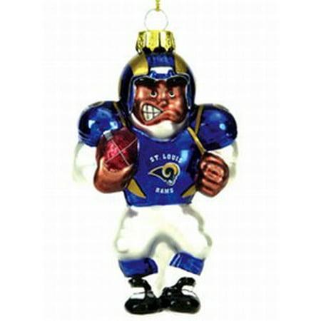 St. Louis Rams Blown Glass Football Player Ornament - St. Louis Rams Blown Glass Football Player Ornament - Walmart.com