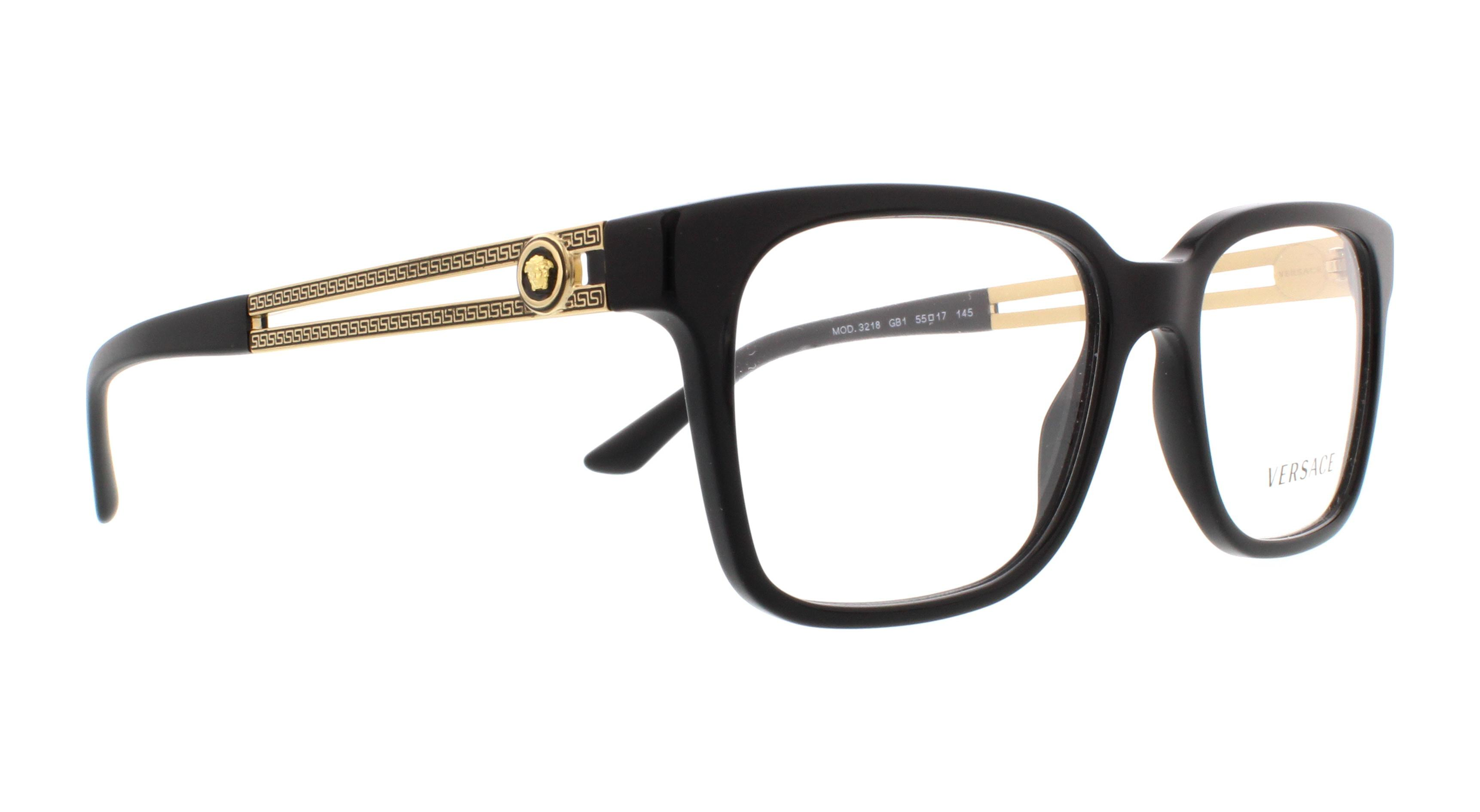 034f2f870ed2 VERSACE Eyeglasses VE3218 GB1 Black 55MM - Walmart.com